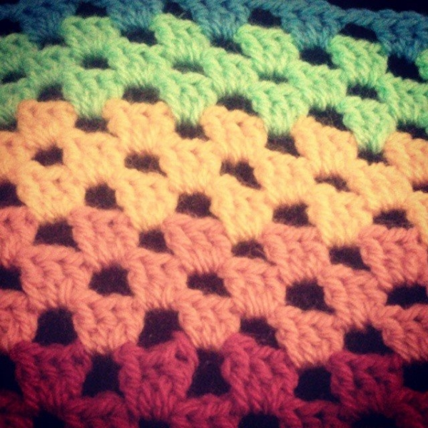 forestflowerdesigns rainbow granny crochet