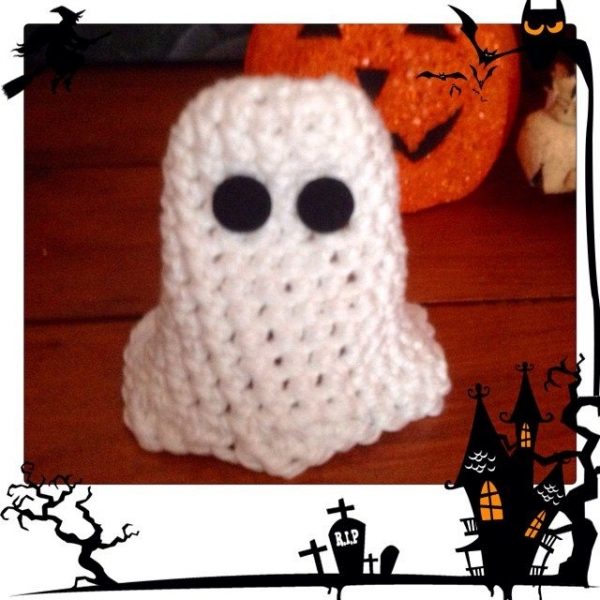 franloveswool crochet ghost halloween