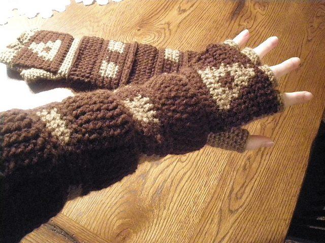crochet armwarmer