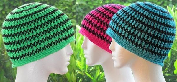 neon crochet hat free pattern