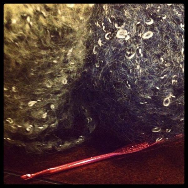 fuzzy crochet cowl yarn