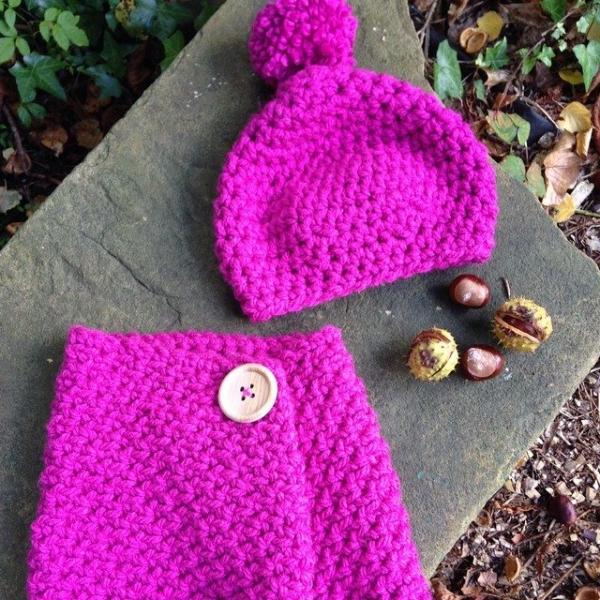 gooseberryfool crochet cowl and hat