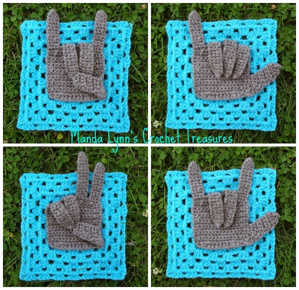 Hand Crochet Patterns : Granny Square Hand free crochet pattern from MandaLynn
