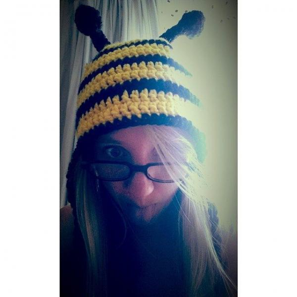 hiiammel crochet bee hat