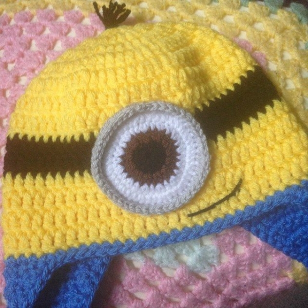 itsjustcrochet crochet minion hat