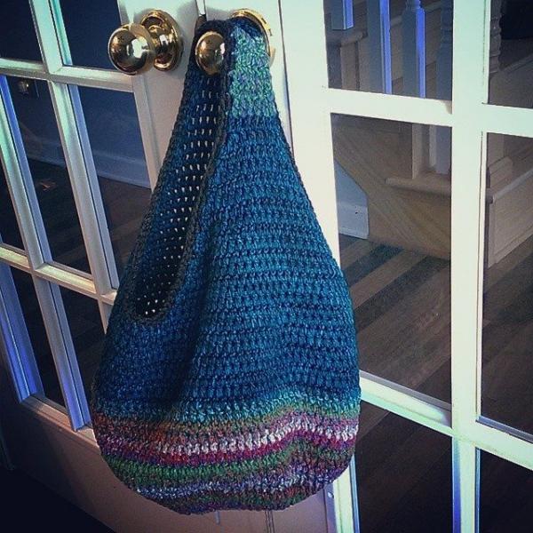 jillsneedbrown crochet bag