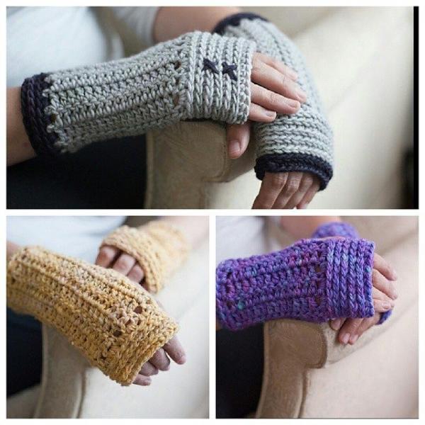 jillsneedbrown crochet gloves