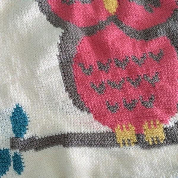 littlecosythings crochet owl blanket