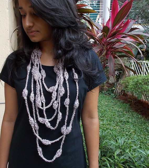 long crochet necklace pattern