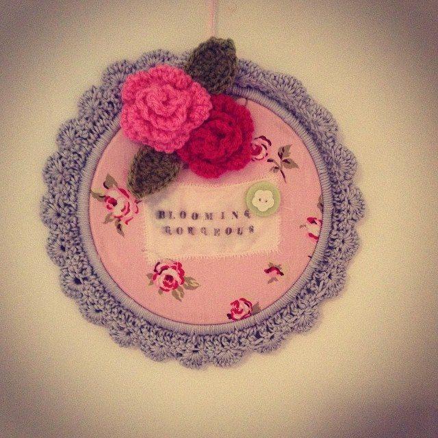 make_the_nest crochet embroidery hoop