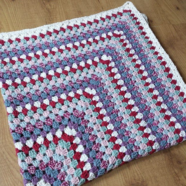 Crocheting Granny Square Blanket : missmotherhook crochet granny square blanket