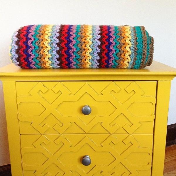 mobiusgirl crochet blanket