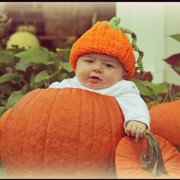 priscillablain crochet pumpkin hat