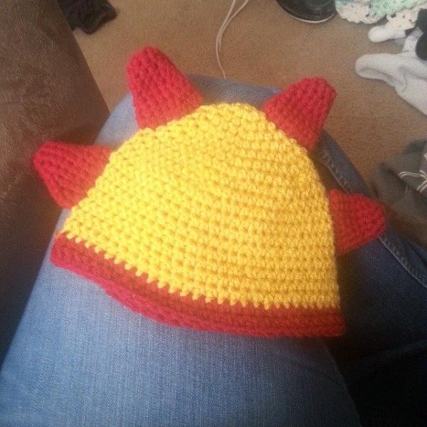 s.s.strange crochet dinosaur hat