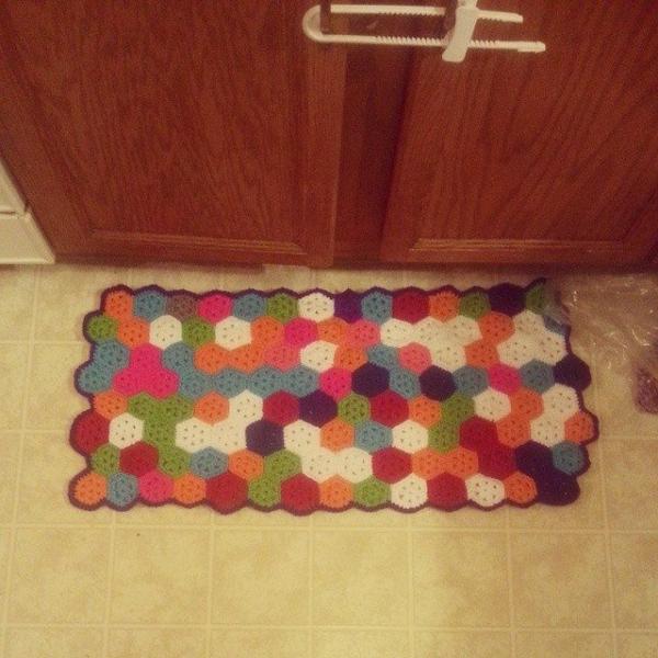 s.s.strange crochet rug