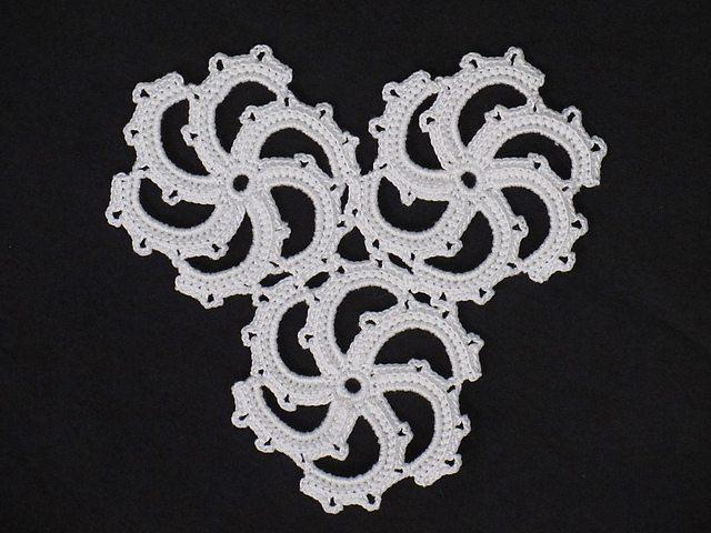 spiral crochet doily pattern