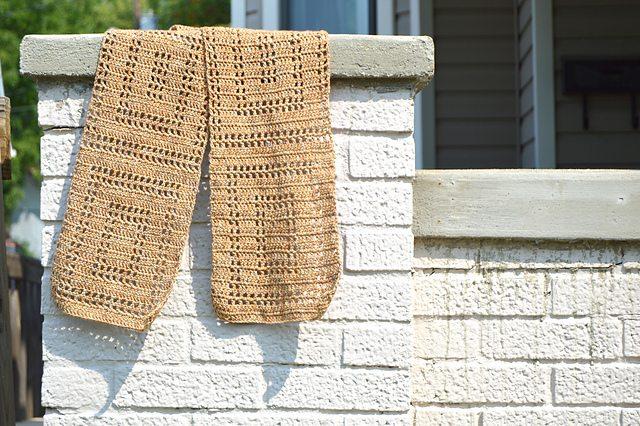 vierkante haak sjaal patroon