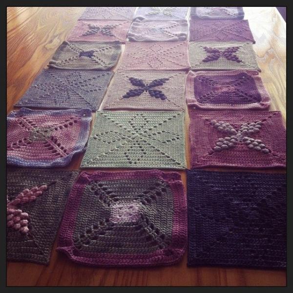 stephaniedavies crochet CAL squares
