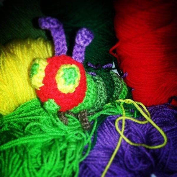 stinaross87 crochet caterpillar