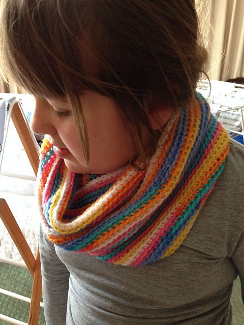 striped crochet cowl free pattern