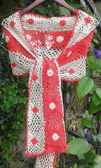 two tone gehaakte sjaal patroon