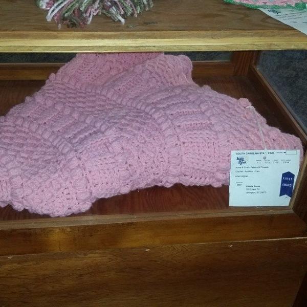 valerieburns crochet blanket wins award