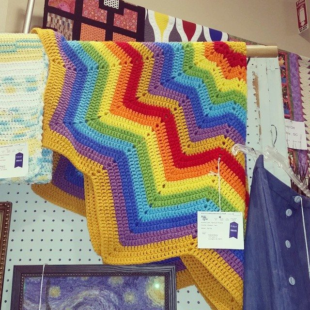 valerieburns crochet ripple blanket award