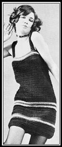 Vintage haak jurk patroon