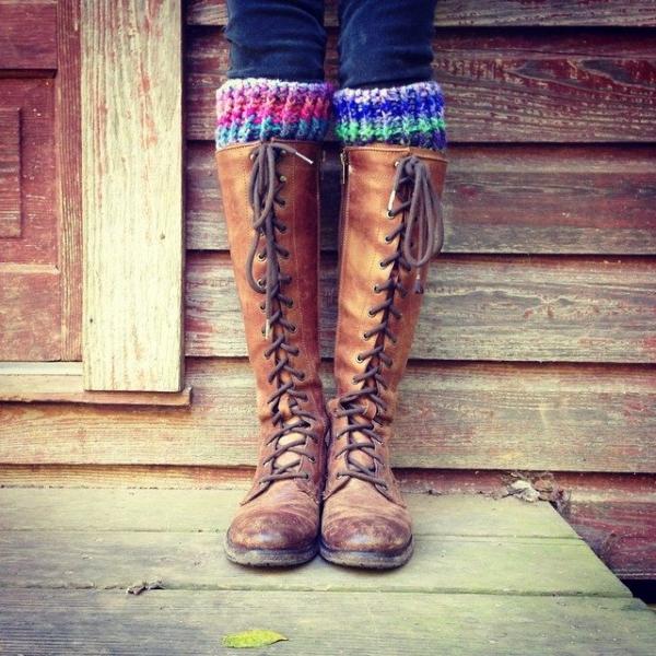 woolyana crochet boot cuffs