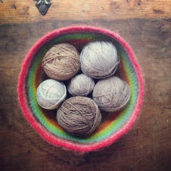 woolyana crochet yarn bowl