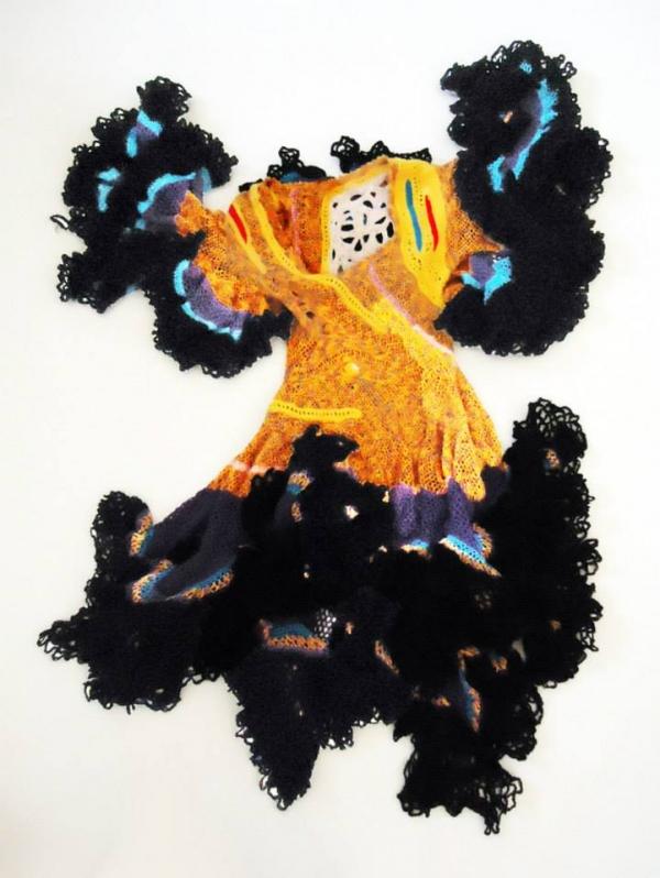 aldo lanzini crochet dress