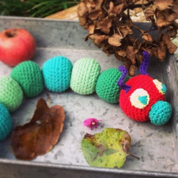 amigurumi_pieceofcake crochet caterpillar