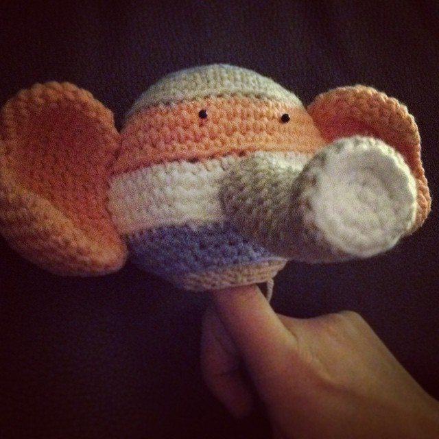 amigurumi_pieceofcake crochet elephant
