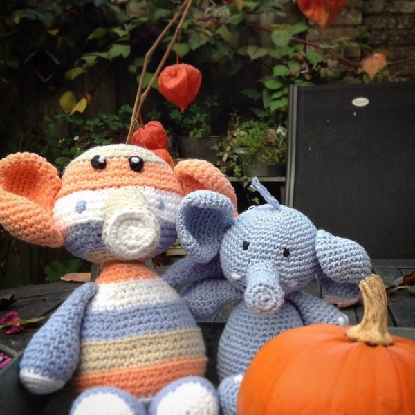 amigurumi_pieceofcake crochet elephants