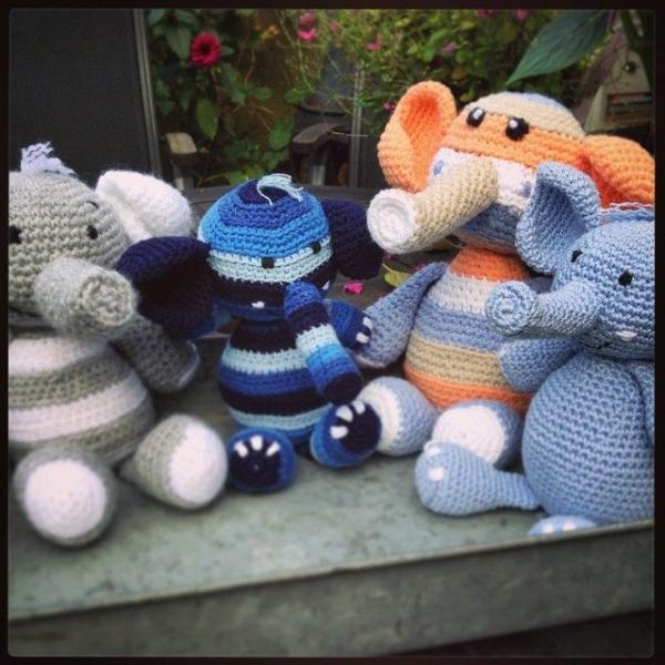 amigurumi_pieceofcake crochet elephants