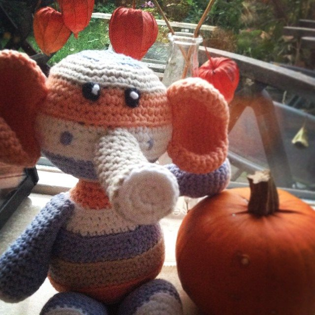amigurumi_pieceofcake crochet elpehant
