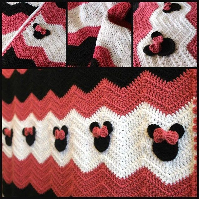 Crochet Pattern For Minnie Mouse Blanket : audra_hooknowl crochet minnie blanket