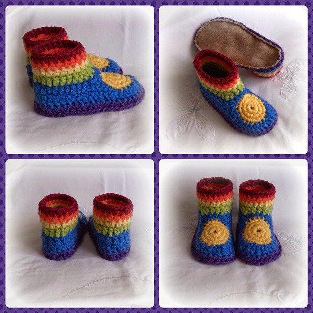bethshananne gehaakte regenboog schoenen