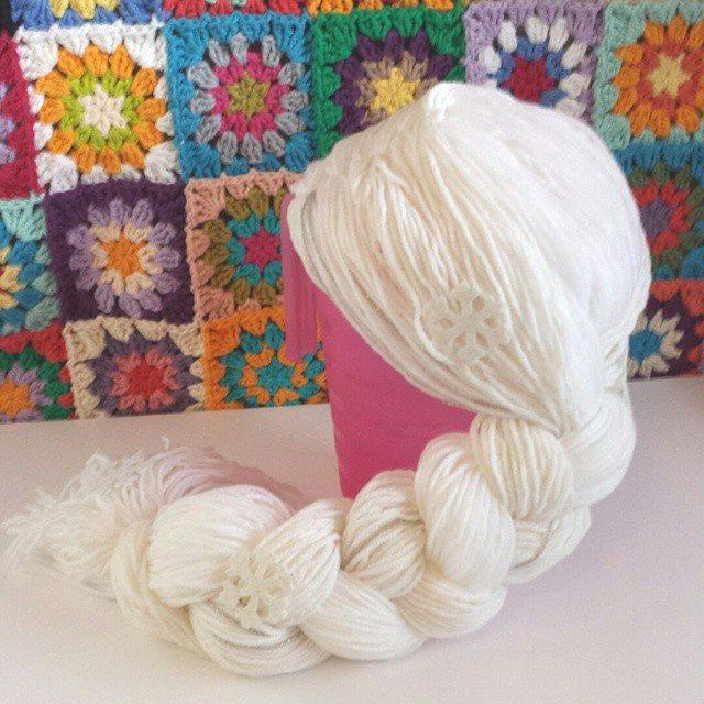 caseyplusthree crochet elsa wig