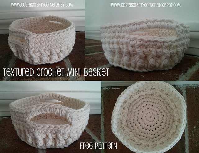 crochet basket free pattern