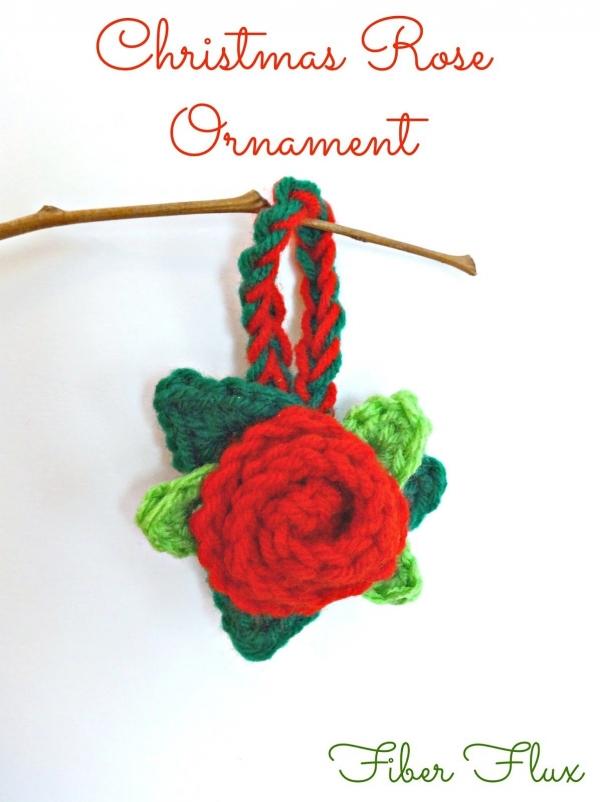 crochet christmas rose pattern