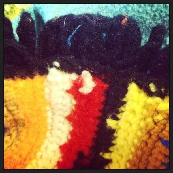 crochet fringe ends