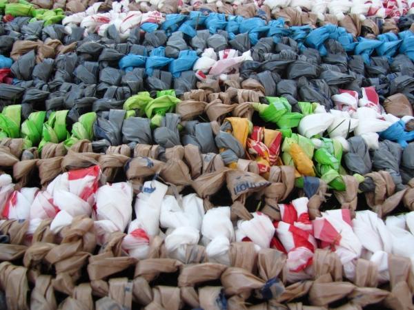 crochet plastic bag mat