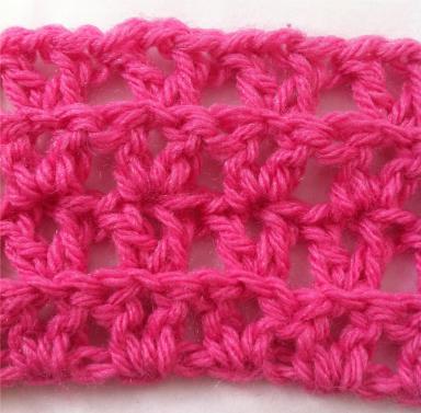 crochet ribbed v-stitch