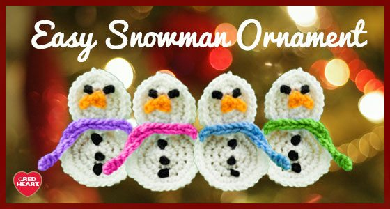 crochet snowman ornament free pattern