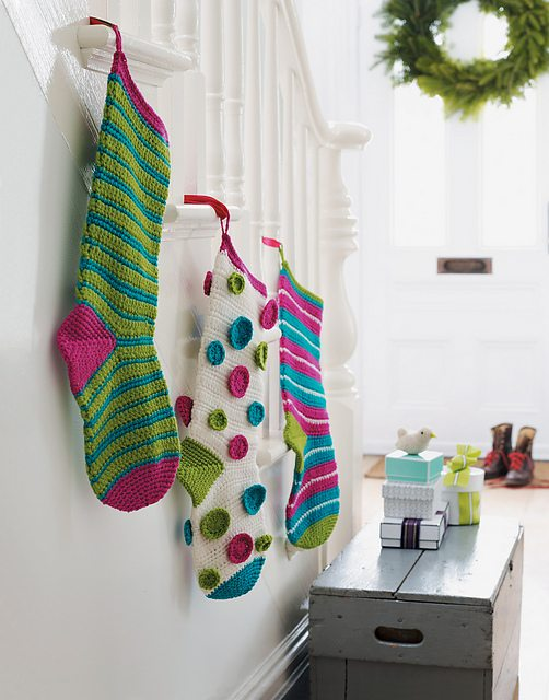 crochet stockings hearth