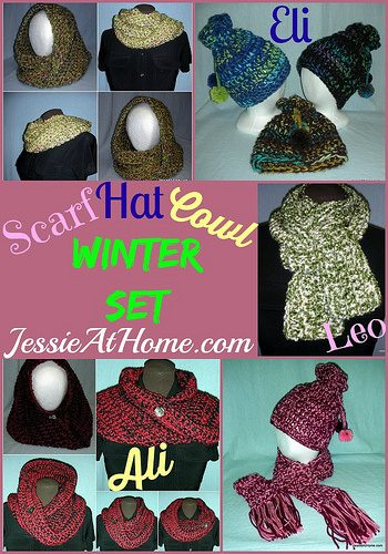 crochet winter set patterns