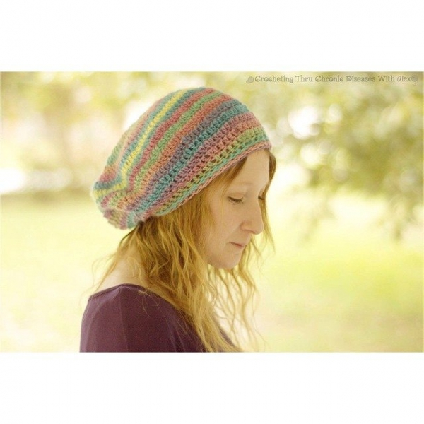 crochetingthruchronicdiseases crochet slouchy hat