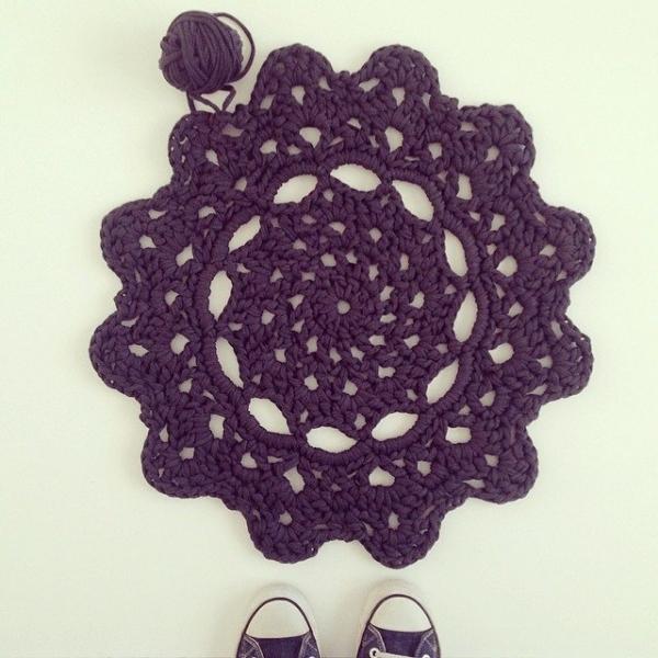 crochetinpaternoster crochet doily rug 1
