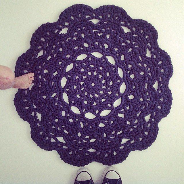 crochetinpaternoster crochet doily rug